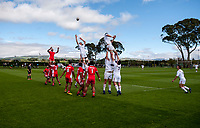 Action from the international rugby match between  New Zealand Schools Barbarians and Tonga Schools at the Sport and Rugby Institute in Palmerston North, New Zealand on Thursday, 28 September 2017. Photo: Dave Lintott / lintottphoto.co.nz
