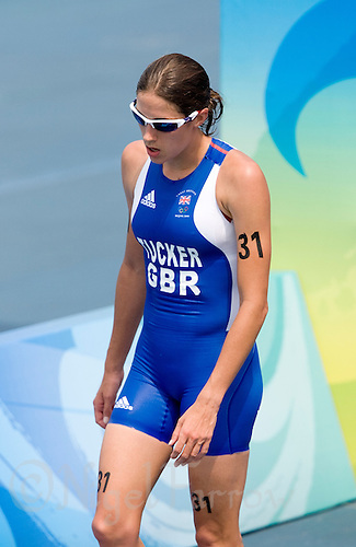 18 AUG 2008 - BEIJING, CHN - Helen Tucker (GBR) - Womens Triathlon - Beijing Olympics. (PHOTO (C) NIGEL FARROW) *** IOC RULES APPLY ON USAGE ***