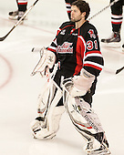 David Shantz (UNB - 31) - The Boston College Eagles defeated the visiting University of New Brunswick Varsity Reds 6-4 in an exhibition game on Saturday, October 4, 2014, at Kelley Rink in Conte Forum in Chestnut Hill, Massachusetts.
