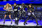 The Black Eyed Peas perform during the Super Bowl XLV halftime show of the Pittsburgh Steelers and Green Bay Packers game on Sunday, February 6, 2011, in Arlington, Texas. The Packers won 31-25. (AP Photo/David Stluka)