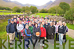 Members of the Wildcats Basketball Club, Ballybunnion pictured as they left Cronins Yard, Beaufort for their sponsored climb of Carrauntoohil, in aid of the community centre extension, on Saturday.