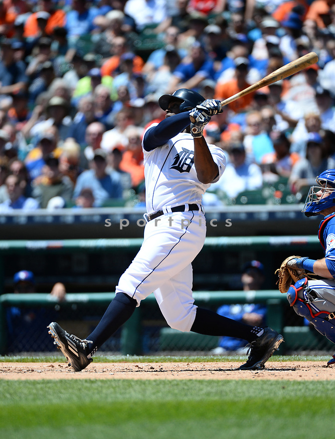 Detroit Tigers Justin Upton (8) during a game against the Toronto Blue Jays on June 8, 2016 at Comerica Park in Detroit MI. The Blue Jays beat the Tigers 7-2.