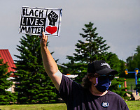 Memorial for George Floyd Buffalo Grove Illinois June 4th 2020 Rally against racism and the murder of George Floyd Buffalo Grove Illinois.