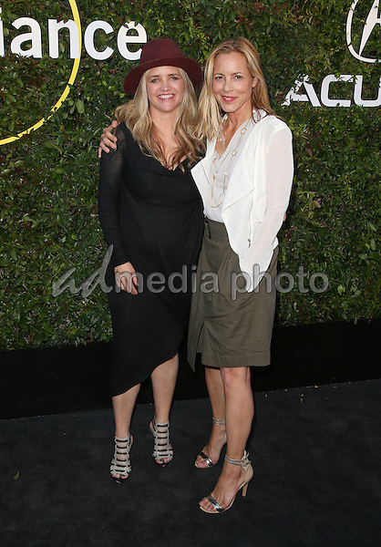 02  June 2015 - Culver City, Clare Munn, Maria Bello. 2015 Sundance Institute Celebration Benefit Held at 3LABS. Photo Credit: F.Sadou/AdMedia