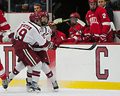 Jake Horton (Harvard - 19), Ty Pelton-Byce (Harvard - 11) - The Harvard University Crimson defeated the visiting Cornell University Big Red on Saturday, November 5, 2016, at the Bright-Landry Hockey Center in Boston, Massachusetts.