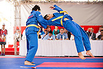Vietnam athletes compete during the Vovinam Men's competition on Day Nine of the 5th Asian Beach Games 2016 at Bien Dong Park on 02 October 2016, in Danang, Vietnam. Photo by Marcio Machado / Power Sport Images