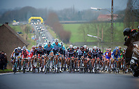3 Days of West-Flanders, .day 2: Brugge-Kortrijk/Bellegem.approaching peloton..