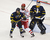 Marc Biega (Merrimack - 4), Jordan Greenway (BU - 18), Collin Delia (Merrimack - 1) - The visiting Merrimack College Warriors defeated the Boston University Terriers 4-1 to complete a regular season sweep on Friday, January 27, 2017, at Agganis Arena in Boston, Massachusetts.The visiting Merrimack College Warriors defeated the Boston University Terriers 4-1 to complete a regular season sweep on Friday, January 27, 2017, at Agganis Arena in Boston, Massachusetts.
