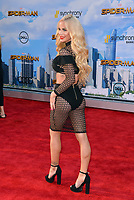 Gigi Gorgeous at the world premiere for &quot;Spider-Man: Homecoming&quot; at the TCL Chinese Theatre, Los Angeles, USA 28 June  2017<br /> Picture: Paul Smith/Featureflash/SilverHub 0208 004 5359 sales@silverhubmedia.com