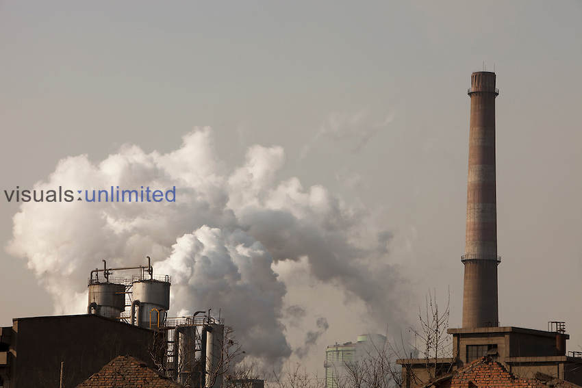 The steel works in Hangdang is one of the largest steel plants in China, fueling China's construction boom and requiring massive quantities of coal to power its furnaces.