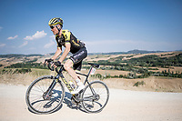 Brent Bookwalter (USA/Mitchelton-Scott)<br /> <br /> 14th Strade Bianche 2020<br /> Siena > Siena: 184km (ITALY)<br /> <br /> delayed 2020 (summer!) edition because of the Covid19 pandemic > 1st post-Covid19 World Tour race after all races worldwide were cancelled in march 2020 by the UCI