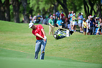 Jon Rahm (ESP) hits his approach shot on 1 during round 7 of the World Golf Championships, Dell Technologies Match Play, Austin Country Club, Austin, Texas, USA. 3/26/2017.<br /> Picture: Golffile | Ken Murray<br /> <br /> <br /> All photo usage must carry mandatory copyright credit (&copy; Golffile | Ken Murray)