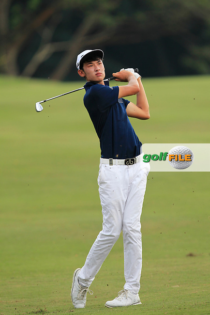 Micah Lauren Shin (USA) in action on the 5th fairway during Round 1 of the Maybank Championship at the Saujana Golf and Country Club in Kuala Lumpur on Thursday 1st February 2018.<br /> Picture:  Thos Caffrey / www.golffile.ie<br /> <br /> All photo usage must carry mandatory copyright credit (© Golffile | Thos Caffrey)