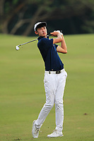Micah Lauren Shin (USA) in action on the 5th fairway during Round 1 of the Maybank Championship at the Saujana Golf and Country Club in Kuala Lumpur on Thursday 1st February 2018.<br /> Picture:  Thos Caffrey / www.golffile.ie<br /> <br /> All photo usage must carry mandatory copyright credit (&copy; Golffile | Thos Caffrey)