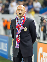 CARSON, CA - March 2, 2013: Chivas head coach Jose Luis Sanchez Sola before the Chivas USA vs Columbus Crew match at the Home Depot Center in Carson, California. Final score, Chivas USA 0, Columbus Crew 3.