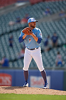 Buffalo Bisons relief pitcher Conor Fisk (49) during an International League game against the Lehigh Valley IronPigs on June 9, 2019 at Sahlen Field in Buffalo, New York.  Lehigh Valley defeated Buffalo 7-6 in 11 innings.  (Mike Janes/Four Seam Images)