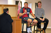 Pictured L-R: Kevin Johns, Lee Trundle and Alan Tate. Thursday 06 July 2017<br /> Re: Swansea City FC Academy U9 signings at the Liberty Stadium, Wales, UK