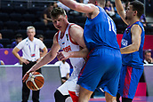 7th September 2017, Fenerbahce Arena, Istanbul, Turkey; FIBA Eurobasket Group D; Russia versus Great Britain; Forward Andrey Vorontsevich #20 of Russia drives to the basket during the match