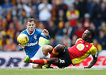 Abdul Osman tackles Andy Halliday