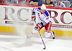 23 January 2010: New York Rangers' right wing forward Marian Gaborik controls the puck during a game against the Montreal Canadiens at the Bell Centre in Montreal, Quebec, Canada. The Canadiens shut out the Rangers 6-0. Mandatory Credit: Ed Wolfstein Photo