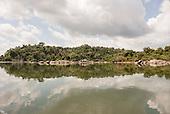 Xingu River, Para State, Brazil. The Volta Grande, peaceful river.