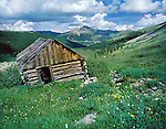 Old miner's cabin in Mayflower Gulch near Dillon, Colorado, USA.