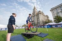 Picture by Allan McKenzie/SWpix.com - 24/09/2017 - Cycling - HSBC UK City Ride Liverpool - Albert Dock, Liverpool, England - HSBC UK, Lets ride, city ride, Liver building.