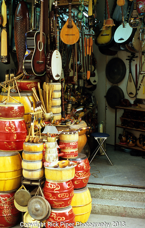 Music Shop - Shop selling musical instruments in Hang Non St, Ha Noi, Old Quarter, Viet Nam