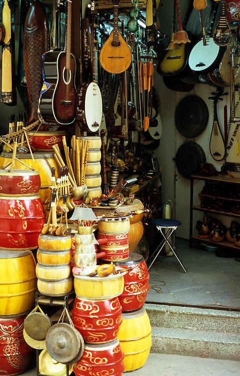 Music Shop - Shop selling musical instruments in Hang Non St, Ha Noi, Old Quarter, Viet Nam