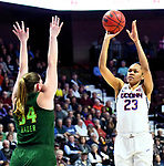 UNCASVILLE, CONNECTICUT -MAR 06: , UCONN ladies defeated USF 70-54 in the finals of the AAC tournament as #23 Azura Stevens nets two on March 6, 2018 in Uncasville, Connecticut. ( Photo by D. Heary/Eclipse Sportswire/Getty Images)