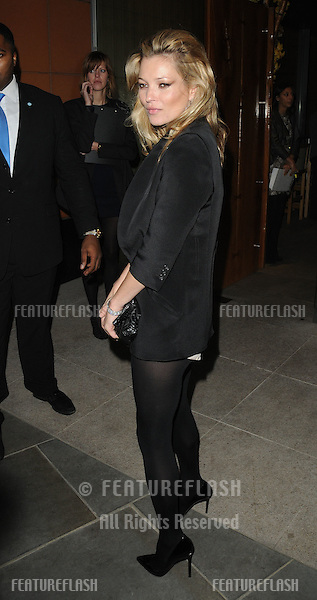 Kate Moss arrives at Zuma for the Topshop Dinner to celebrate the opening of the new store in Knightsbridge. 19/05/10.Picture by Simon Burchell / Featureflash.