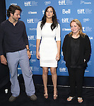 Bradley Cooper, Jennifer Lawrence and Jacki Weaver attending the The 2012 Toronto International Film Festival Photo Call for 'Silver Linings Playbook' at the TIFF Bell Lightbox in Toronto on 9/9/2012
