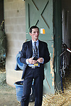 HOT SPRINGS, AR - APRIL 14: Quip trainer Rodolphe Brisset, before the Arkansas Derby at Oaklawn Park on April 14, 2018 in Hot Springs, Arkansas. (Photo by Justin Manning/Eclipse Sportswire/Getty Images)