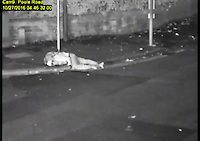 BNPS.co.uk (01202 558833)<br /> Pic: DorsetPolice/BNPS<br /> <br /> Jacek Szafranski landed on the kerb...<br /> <br /> This is the shocking moment a cyclist was thrown through the air like a rag doll after a teenage driver crashed into him before speeding off.<br /> <br /> CCTV footage captured the horrifying moment victim Jacek Szafranski somersaulted 10ft before landing in the road.<br /> <br /> The video then shows him lying motionless on the ground as callous Benjamin George, 19, drives away without stopping to check on his 34-year-old victim.<br /> <br /> A court heard the horrific collision happened at the end of a five hour course of wreckless driving by George in Bournemouth, Dorset.<br /> <br /> He drove the wrong way down a dual carriageway in a Vauxhall Tigra, jumped through red lights, dangerously overtook multiple cars, almost lost control on a roundabout and nearly struck a pedestrian as he ran a red light in the space of two and a half hours.
