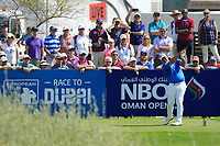 Darren Clarke (NIR) during the third round of the NBO Open played at Al Mouj Golf, Muscat, Sultanate of Oman. <br /> 17/02/2018.<br /> Picture: Golffile | Phil Inglis<br /> <br /> <br /> All photo usage must carry mandatory copyright credit (&copy; Golffile | Phil Inglis)