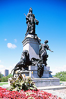 Statue of Queen Victoria (1900) (Sculptor Louis-Philippe Hébert), in the City of Ottawa, Ontario, Canada