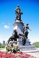 Statue of Queen Victoria (1900) (Sculptor Louis-Philippe Hébert), in the City of Ottawa, Ontario, Canada