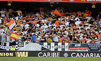 Valencia, Spain. Thursday 19 September 2013<br /> Pictured: Valencia supporters.<br /> Re: UEFA Europa League game against Valencia C.F v Swansea City FC, at the Estadio Mestalla, Spain,
