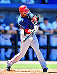 7 March 2010: Washington Nationals' outfielder Willy Taveras at bat during a Spring Training game against the New York Mets at Tradition Field in Port St. Lucie, Florida. The Mets edged out the Nationals 6-5 in Grapefruit League pre-season play. Mandatory Credit: Ed Wolfstein Photo