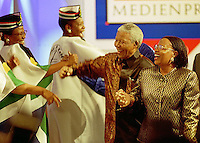 President Nelson Mandela and his wife Graca Machel, Germany 1999