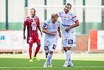 S&ouml;dert&auml;lje 2015-08-01 Fotboll Superettan Assyriska FF - &Ouml;stersunds FK :  <br /> Assyriskas Christopher Brandeborn gratuleras efter sitt 4-1 m&aring;l av Mattias Genc under matchen mellan Assyriska FF och &Ouml;stersunds FK <br /> (Foto: Kenta J&ouml;nsson) Nyckelord:  Assyriska AFF S&ouml;dert&auml;lje Fotbollsarena Superettan &Ouml;stersund &Ouml;FK jubel gl&auml;dje lycka glad happy