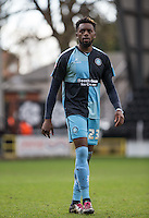 Gozie Ugwu of Wycombe Wanderers during the Sky Bet League 2 match between Notts County and Wycombe Wanderers at Meadow Lane, Nottingham, England on 28 March 2016. Photo by Andy Rowland.