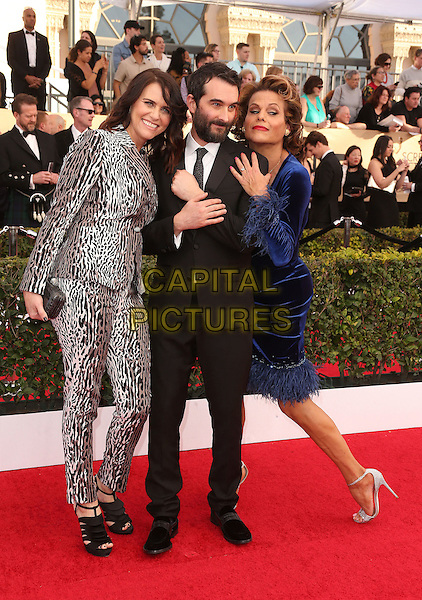 29 January 2017 - Los Angeles, California - Amy Landecker, Jay Duplass, Alexandra Billings. 23rd Annual Screen Actors Guild Awards held at The Shrine Expo Hall. <br /> CAP/ADM/FS<br /> &copy;FS/ADM/Capital Pictures