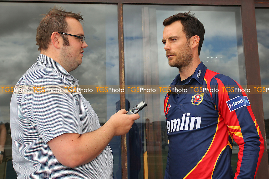 James Foster, captain of Essex Eagles speaks to the media ahead of the team travelling to Edgbaston - Essex Eagles Friends Life T20 Finals Day Press Event at the Essex County Ground, Chelmsford - 15/08/13 - MANDATORY CREDIT: Gavin Ellis/TGSPHOTO - Self billing applies where appropriate - 0845 094 6026 - contact@tgsphoto.co.uk - NO UNPAID USE