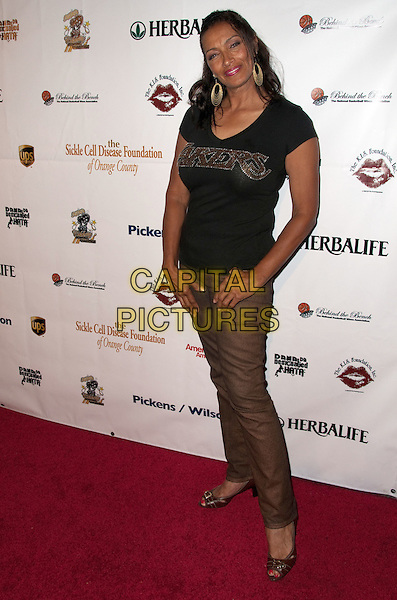 KATHLEEN BRADY.K.I.S. Foundation celebrates the 100th discovery year of Sickle Cell Disease with their Annual Bowling Challenge held at PINZ Entertainment  Center, Studio City, CA, USA..September 17th, 2010.full length black t-shirt brown trousers .CAP/ADM/DT.©Daniel Tanner/AdMedia/Capital Pictures.