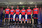 Team Norway at sign on before the Men Elite Road Race of the UCI World Championships 2019 running 280km from Leeds to Harrogate, England. 29th September 2019.<br /> Picture: Eoin Clarke | Cyclefile<br /> <br /> All photos usage must carry mandatory copyright credit (© Cyclefile | Eoin Clarke)
