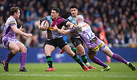 Harlequins' Brett Herron in action during todays match<br /> <br /> Photographer Bob Bradford/CameraSport<br /> <br /> Premiership Rugby Cup Semi Final - Exeter Chiefs v Harlequins - Sunday 2nd February 2020 - Sandy Park - Exeter<br /> <br /> World Copyright © 2018 CameraSport. All rights reserved. 43 Linden Ave. Countesthorpe. Leicester. England. LE8 5PG - Tel: +44 (0) 116 277 4147 - admin@camerasport.com - www.camerasport.com