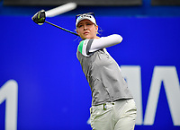 Nelly Korda of the United States plays her shot from the first tee during the third round of the ANA Inspiration at the Mission Hills Country Club in Palm Desert, California, USA. 3/31/18.<br /> <br /> Picture: Golffile | Bruce Sherwood<br /> <br /> <br /> All photo usage must carry mandatory copyright credit (&copy; Golffile | Bruce Sherwood)during the second round of the ANA Inspiration at the Mission Hills Country Club in Palm Desert, California, USA. 3/31/18.<br /> <br /> Picture: Golffile | Bruce Sherwood<br /> <br /> <br /> All photo usage must carry mandatory copyright credit (&copy; Golffile | Bruce Sherwood)
