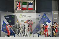 PODIUM LMGTE AM #83 AF CORSE (ITA) FERRARI F458 ITALIA LMGTE AM FRANÇOIS PERRODO (FRA) EMMANUEL COLLARD (FRA) RUI AGUAS (PRT) #98 ASTON MARTIN RACING (GBR) ASTON MARTIN V8 VANTAGE LMGTE AM PAUL DALLA LANA (CAN) PEDRO LAMY (PRT) MATHIAS LAUDA (AUT) #50 LARBRE COMPETITION (FRA) CHEVROLET CORVETTE C7 LMGTE AM YUTAKA YAMAGISHI (JPN)  PIERRE RAGUES (FRA) PAOLO RUBERTI (ITA)