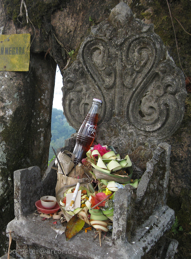 small shrine at  mountain lake area Tiga Danau, Bali, archipelago Indonesia, 2009
